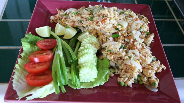 How to Cook Khao Pad Naem