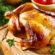Roast Chicken with Apricot Stuffing and Asparagus