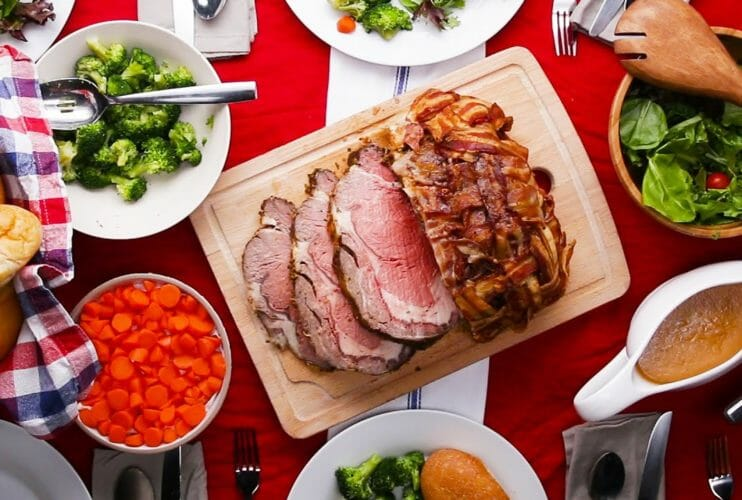 Bacon-Wrapped Prime Rib