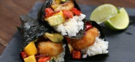 Fried Shrimp and Mango Salsa Hand Roll